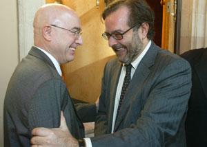 Consejero Treserras con el expresidente del CCMA, Sáez