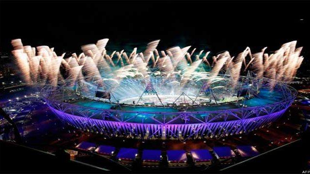 estadio en celebración